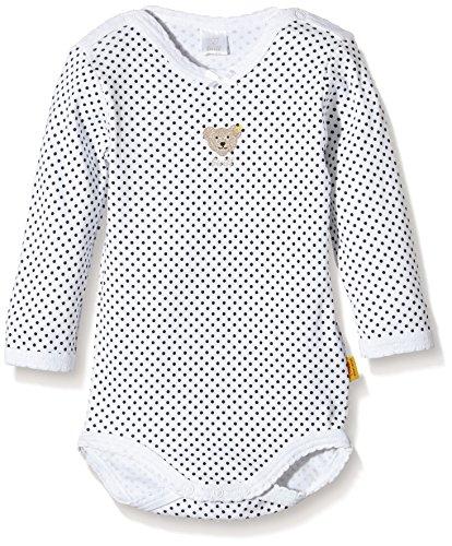 Steiff - mixte bébé - 0008743 Bodysuit 1/1 Sleeves - Bright White - 3 ans (Taille Fabricant :98)