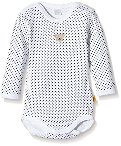 Steiff - mixte bébé - 0008743 Bodysuit 1/1 Sleeves - Bright White - 4 ans (Taille Fabricant :104)
