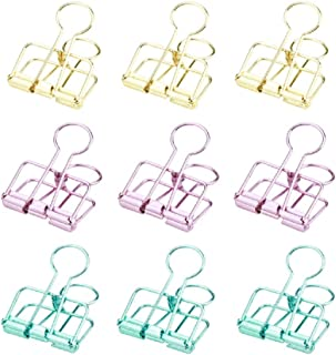 6 formati assortiti 104 Pezzi Foldback Clips Gwolf Clip Doppio FoldBack Binder Clips Carta per metallo Binder Clamps per Note Letter Paper Clip Office Supplies