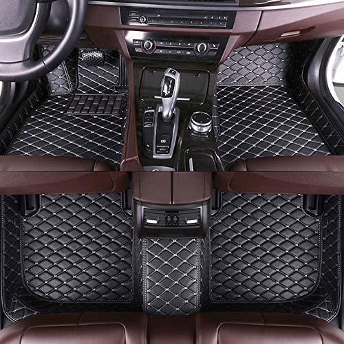 Jiahe El Alfombra Coche para Land Rover Range Rover Evoque 2015-2018 Alfombra Personalizada Coche para Cuero Esteras Coche Antideslizantes Alfombrillas Moqueta Impermeables Set Negro Beige