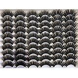 GMAGICTOBO Eyelashes 30 Pairs Dramatic Faux Mink Lashes Pack 3 Styles Mixed Fluffy 6D Long False Eyelashes Thick Volume Fake Eye Lashes