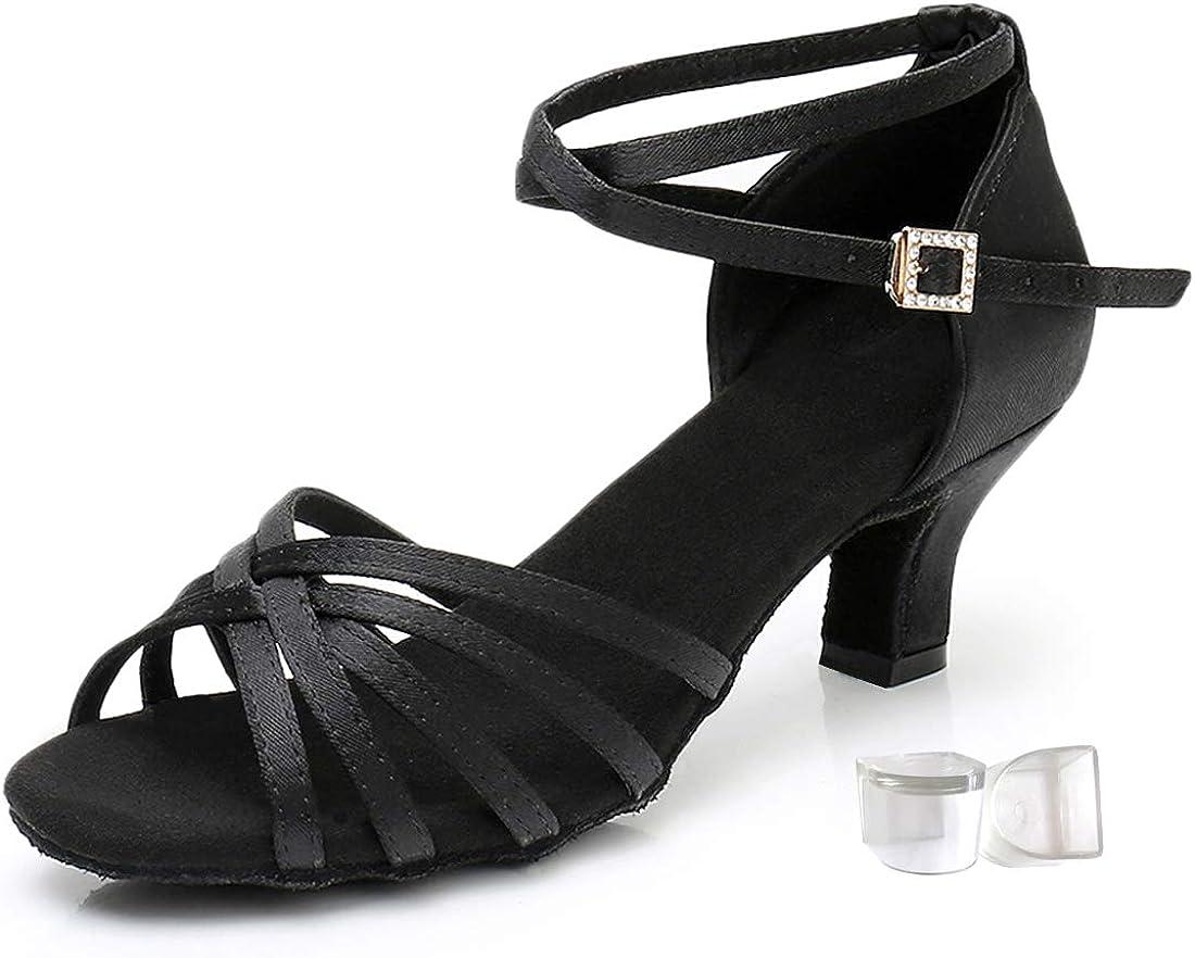 Women's Satin Latin Dance Shoes Salsa Tango Rumba ChaCha Bachata