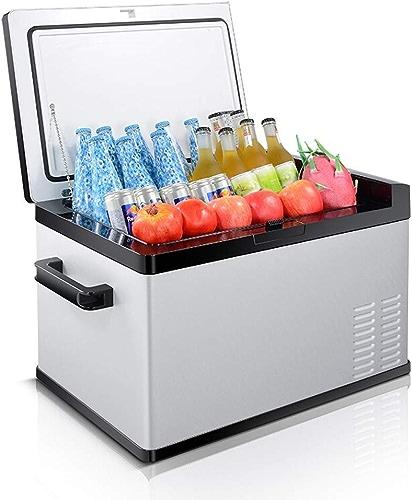 ZLL Congélateur-réfrigérateur à affichage numérique portable Car Fridge-Liter avec affichage numérique, 12 V   24 V   220 V - gris Noir,30L