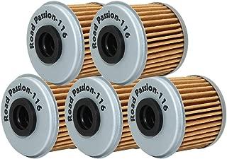 Road Passion High Performance Oil Filter for HONDA TRX450R 450 06-09 2012 TRX450 R 444 04-05 TRX450ER 450 06-09 12-14(pack of 5)