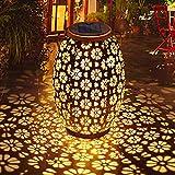 Qomolo Luces de Linterna Solar Exterior,Farol Solar Jardin LED Lámpara solar,Impermeable de Decoración Farolillos para Terraza, Camino,Mesa,Patio,Porche