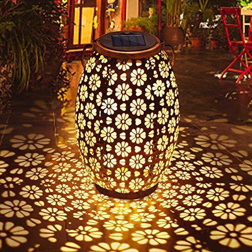 Solar Laterne Außen, Qomolo Garten Solar Gartenleuchte LED zum Aufhängen Lampe IP44 Wasserdicht Solarlampe für Garten, Balkon, Hof, Pfad Ornaments