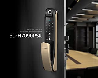 BUILDONE H-7090PSK Push Pull Fingerprint Remote Door Lock (Mortise 240mm)