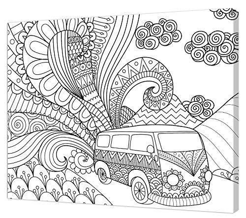 Pintcolor 9112 Künstlerleinwand, Holz, Weiß/Schwarz, 50 x 40 x 3,5 cm