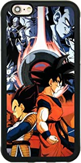 Dragon Ball Z Theme Case for iPhone 6/6S 4.7 Inch Superhero Comic TPU Silicone Gel Edge + PC Bumper Case Skin Protective Custom Designed Printed Phone Protector Full Protection Unique Cartoon Cover