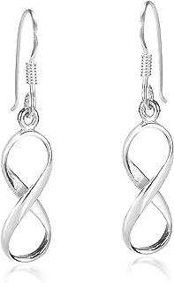 Endless Symbol Infinity Love .925 Sterling Silver Dangle Earrings