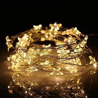 LED 3M Star Luces de cadena de alambre de cobre Luces LED de hadas Luces de decoración de bodas de Navidad Batería Opere Twinkle Lights @ Cold_White_2M
