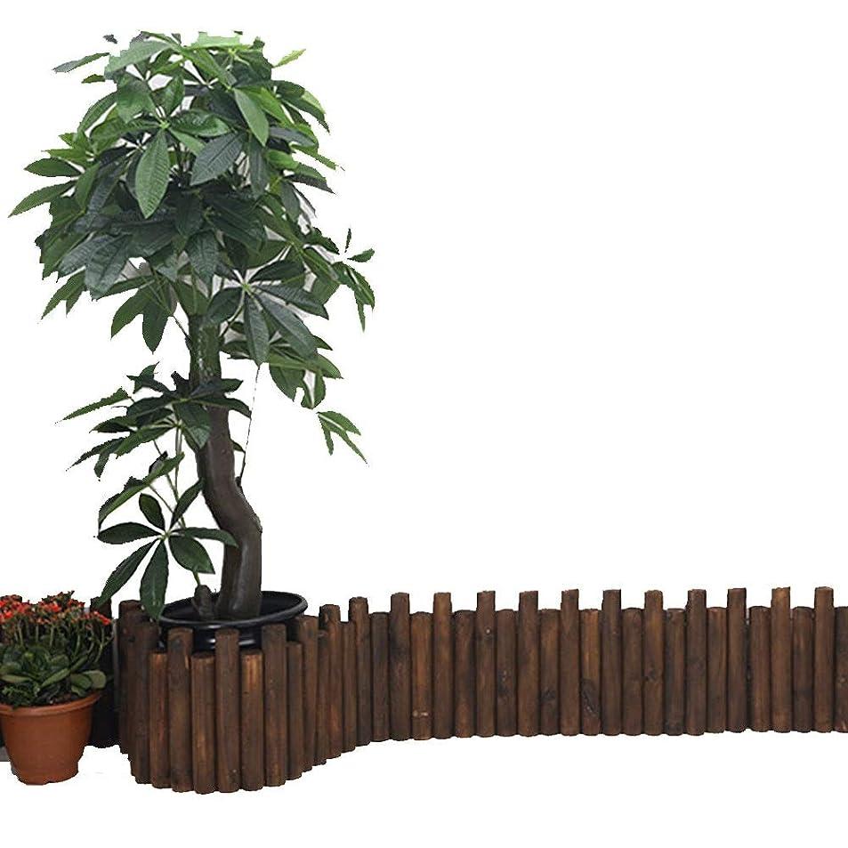不機嫌薬理学計器YYFANG 木製フェンス耐候性含浸高温炭化円筒形木製ステーク植物保護、5サイズ (Color : Brown, Size : 90x20cm)