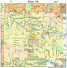 Large Street & Road Map of Solon, Ohio OH - Printed poster size wall atlas of your home town