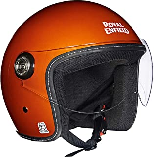 Royal Enfield Orange Open Face with Visor Helmet Size (XL)62 CM (RRGHEI000033)