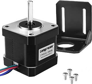 Longruner Nema 17 Motor Paso a Paso, Impresora 3D Hobby CNC,Bipolar 2A 64oz.in (45Ncm) 42x40mm Cuerpo 4-Cables y Conector LD08