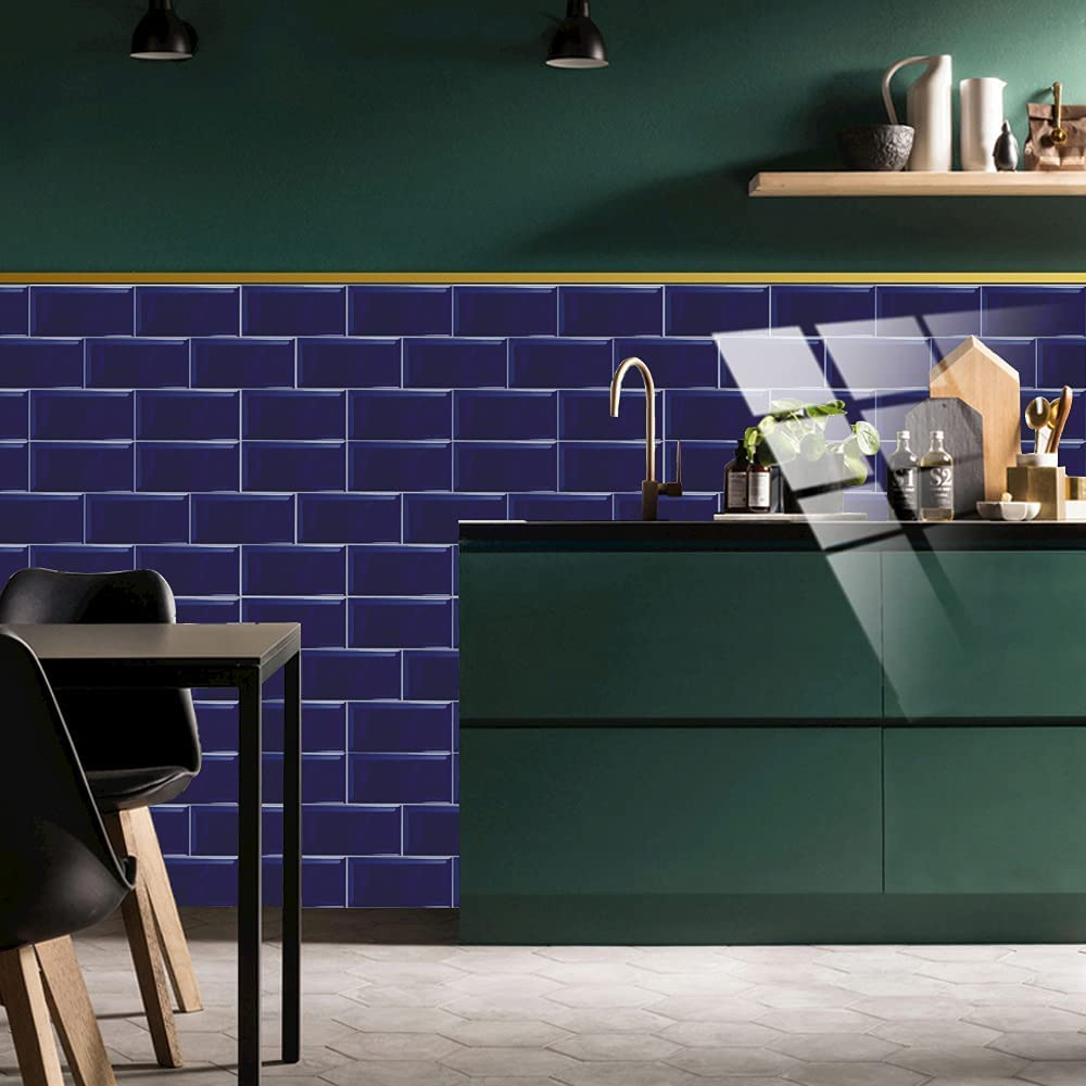Buy Maqianfaa 12 Sheet Backsplash Peel And Stick For Kitchen Wall 3 94 7 87 Inch Diy Self Adhesive 3d Faux Brick Wall Panels Pvc Subway Tile Stickers Waterproof Wallpaper For Home Decoration