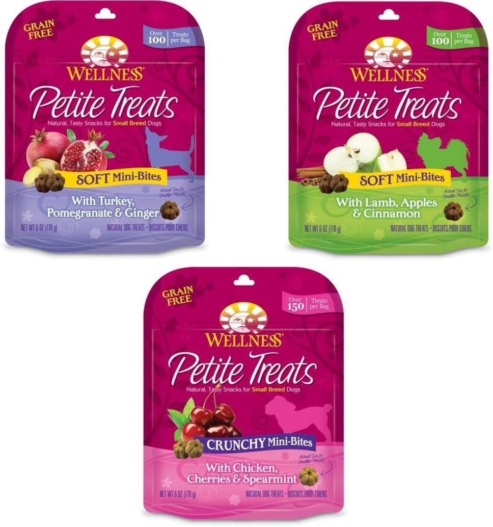 Wellness Petite Treats Natural Sales Grain NEW Free Dog Breed Small
