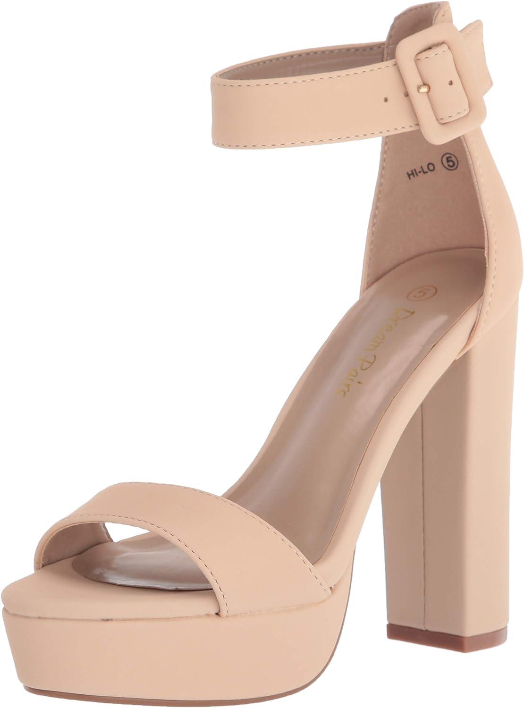 70s Shoes, Platforms, Boots, Heels | 1970s Shoes DREAM PAIRS Womens Hi-Lo High Heel Platform Pump Sandals  AT vintagedancer.com