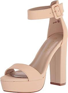 DREAM PAIRS Women's Hi-Lo High Heel Platform Pump Sandals