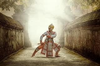 Dancing in Masked Khon Hanuman Thailand Photo Art Print Cool Huge Large Giant Poster Art 54x36