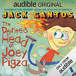 The Dented Head of Joey Pigza audiobook cover art