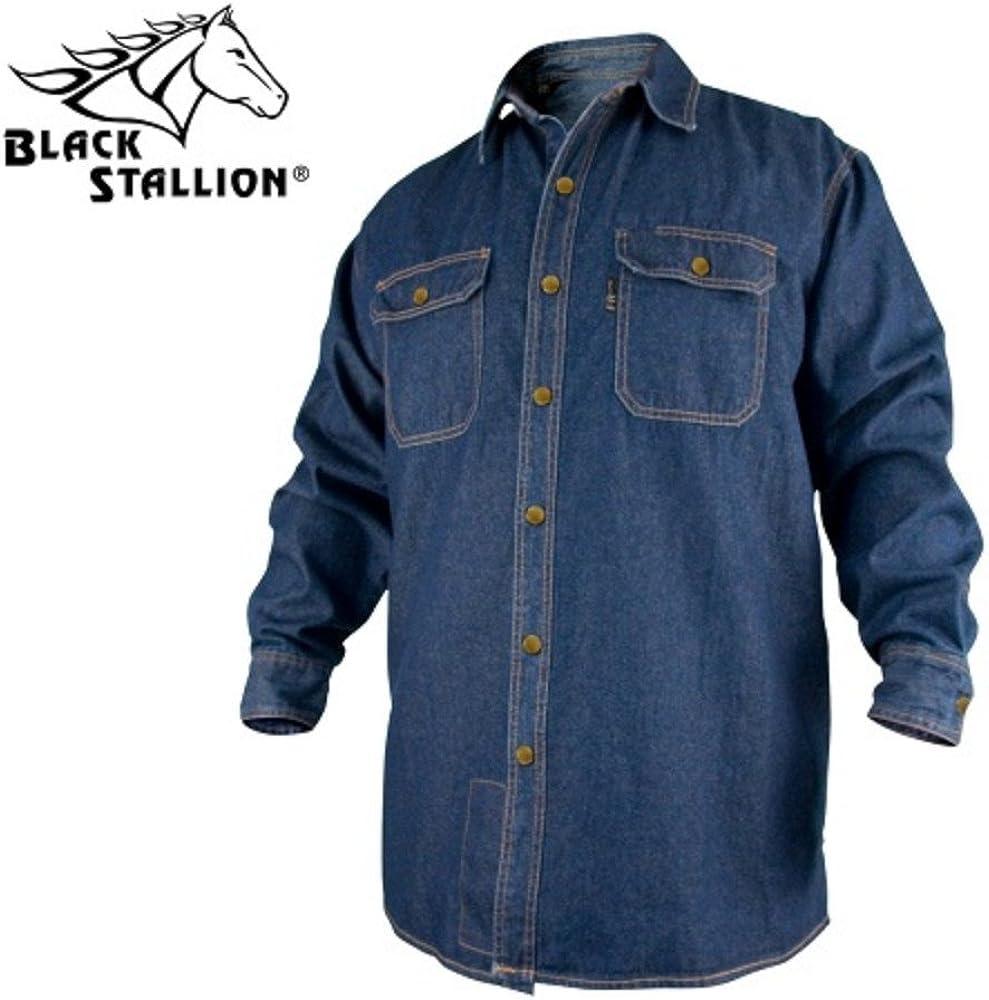 Black Stallion FS8-DNM 8 oz. FR Denim Long Gifts Sleeve Cotton Work Very popular! Sh