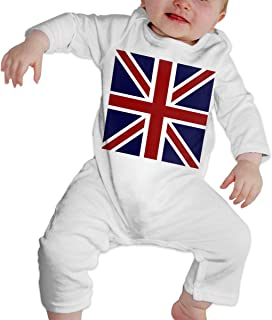 A1BY-5US Newborn Baby Boys Girls Cotton Long Sleeve American Nigerian Flag Climb Romper Funny Printed Romper Clothes