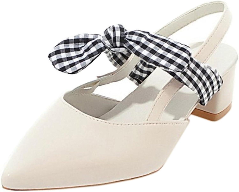 KemeKiss Women Slingback Sandals Low Heel Bow
