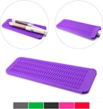 ZAXOP Resistant Silicone Mat Pouch for Flat Iron, Curling Iron,Hot Hair Tools (Purple)