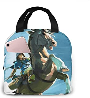 ゼルダの伝説 ブレス オブ ザ ワイルド 大容量 ファスナー付き 前ポケット付き ハイクオリティエコ断熱材 弁当バッグ ランチバッグ Lunch Bag