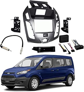 Compatible with Ford Transit Connect 2014-2016 Stereo Radio Install Dash Kit Gray Package New