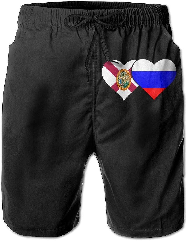 4b9a96731 SESY Men's 3D Printing Florida Florida Florida Flag Russian Flag Beach  Shorts Casual Shorts d56c76