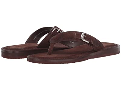 John Varvatos Collection Havana Buckle Thong (Dark Brown) Men