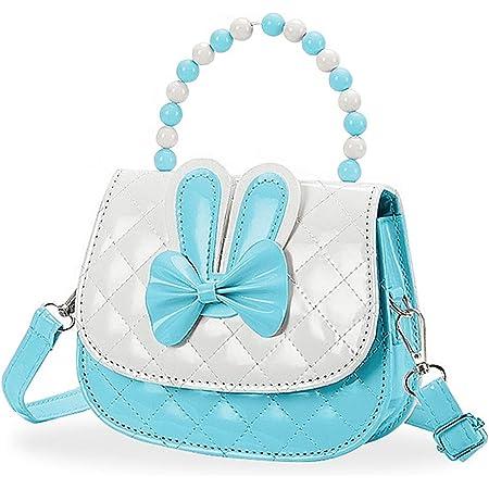 Czemo Kinder Umhängetasche Mädchen Handtasche Klein PU Leder Schultertasche Geldbeutel Verstellbarer Schultergurt Kindertasche Mädchen Spielzeug