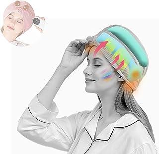 WOERD Masseur de Tête avec Chaleur, Casque de Massage Tete Anti-Migraine, Bonnet de Soulagement Migraines et Maux de Tête,...