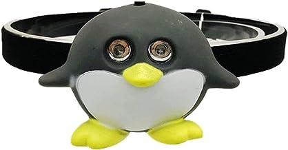 Dierenkoplamp voor kinderen, op batterijen werkende LED-koplamp voor kinderen, Cartoon dierenhoofdlamp Zaklamp met SOS-mod...