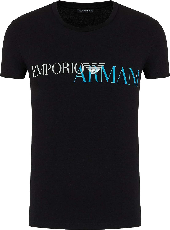 Emporio Armani T-Shirt Hombre 111035 0A516, Camiseta Cuello Redondo, Manga Corta