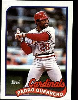 1989 Topps Baseball #780 Pedro Guerrero St. Louis Card (stock photo used, Sharp corners guaranteed) inals Official MLB Trading Card (stock photo used, Sharp corners guaranteed)