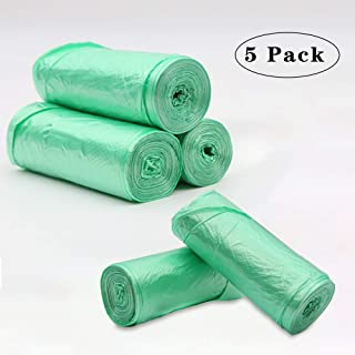 Trash Bags Biodegradable,4 Gallon Trash bags Recycling & Degradable Garbage Bags Compostable Bags Strong Rubbish Bags Wastebasket Liners Bags for Kitchen Bathroom Office Car (150)