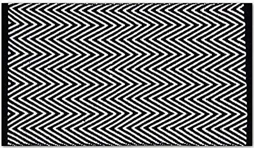 Pro Home Teppich Läufer Matte Unterlage Vorleger Fußabtreter, breite Auswahl an modernen Fleckerl- und Baumwollteppiche (70x130 cm/Zigzag)