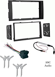 ASC Audio Car Stereo Dash Kit, Wire Harness, Antenna Adapter, and Radio Remove Tool for installing a Double Din Radio for 2004 2005 2006 2007 2008 2009 2010 VW Volkswagen Touareg Touareg 2