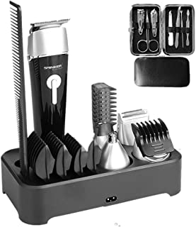 Sminiker Professional 5 in 1 Multi-functional Waterproof Man's Grooming Kit Hair Clippers Beard Trimmer Kit Body Groomer K...
