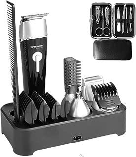 Sminiker Professional 5 in 1 Multi-functional Waterproof Man's Grooming Kit Hair..