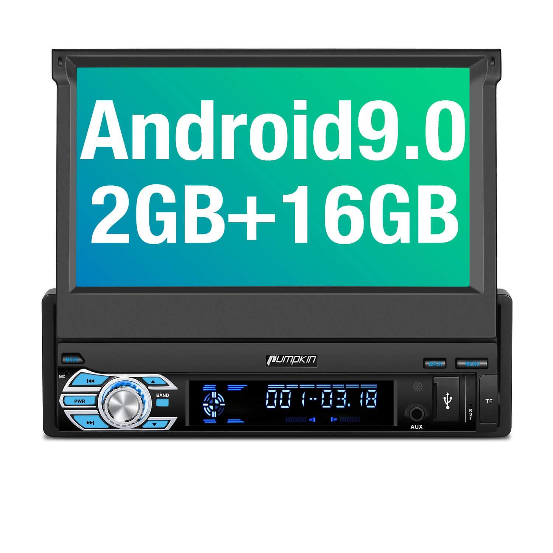 Pumpkin Android 9.0 Autoradio 1DIN GPS Navi Bluetooth DAB USB RDS Rückfahrkamera