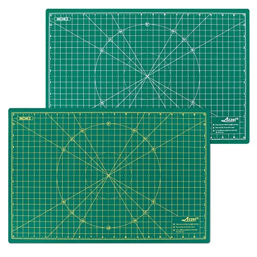 Self Healing Rotary Cutting Mat 12' x 18' INCH Double Sided Perfect for Crafts, Quilting, Sewing, Scrapbooking A3