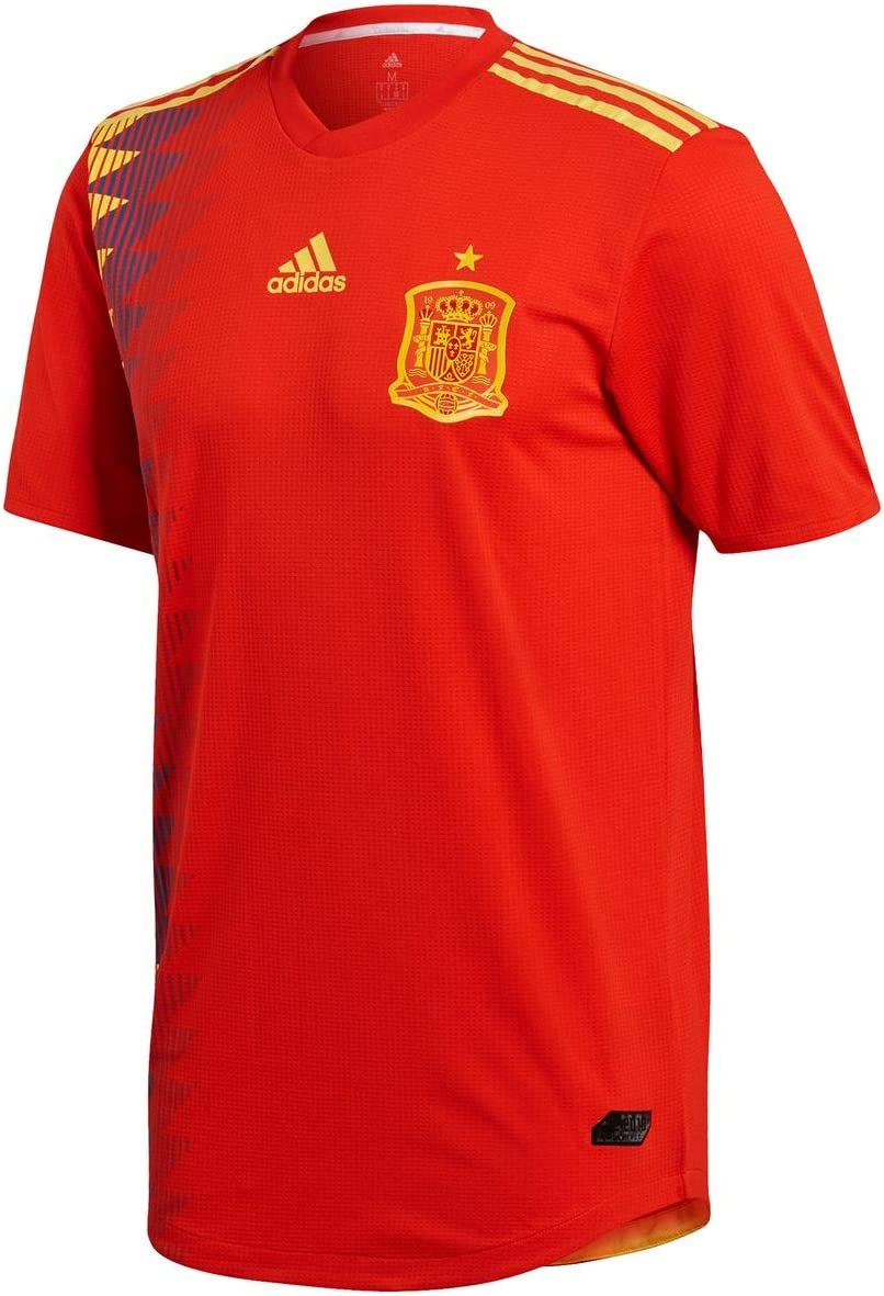 adidas Spain Home Soccer Authentic Jersey FIFA World Cup Russia 2018