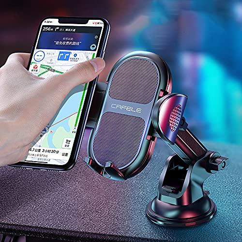 Soporte Móvil Coche con Ventosa Fuerte Soporte Teléfono Coche, Salpicadero/Parabrisas Porta Movil Coche con 3 en 1 para Xiaomi Mi 9 Mi 8 Redmi Note 7 iPhone XR XS MAX X 8 7 6 Samsung S10 S9 Huawei P20