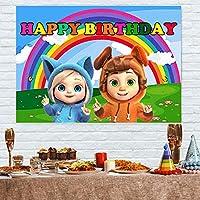 7x5ft子供の背景デイブとアヴァの写真の背景の写真青空と白い雲パーティーの装飾漫画の背景誕生日の写真の背景写真の写真パーティーの装飾