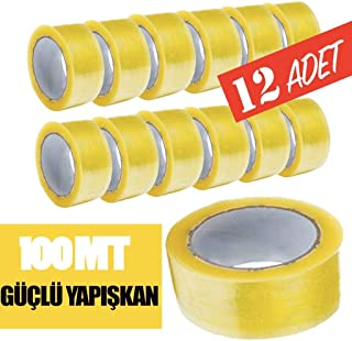 Weblonya KOLİ BANTI PAKET BANDI 12 ADET BANT 1312