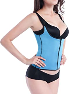 DREAM SLIM-Women Waist Trainer for Weight Loss Body Shaper Zipper Waist Cincher Bustier Tank Top with Adjustable Straps